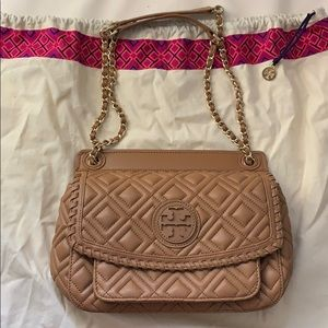•MAKE OFFER Tory Burch brown crossbody bag
